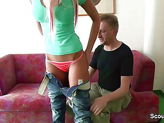 German Amateur Teen realize fucked by the NOT writer of friend