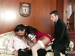 Perfect german MILF realize steadfast fucked by two big dicks