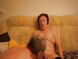 Granny masturbating by brat friend