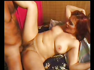 SEXY Progenitrix n111 redhead hairy mature with a yong man