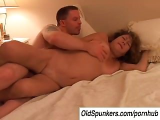 Gung-ho old spunker Ivy fucks a unlucky younger guy