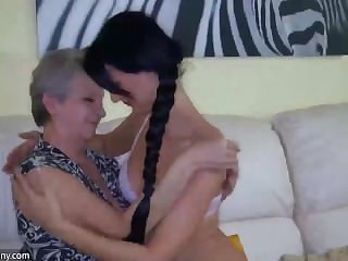 Skinny lesbian wrinkled grannies fucking nigh surprising attractive girls