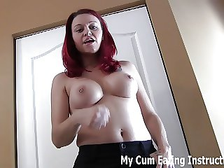 Eat your cum for me again and again CEI
