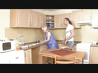 Of age Kirmess Mother Fucked By Young Guy in Pantry
