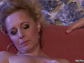 He finds mom and girl toying