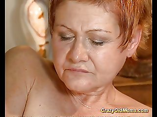 Older babe gets unchanging fucked with the addition of cumshot saddle with on outlook