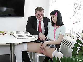 Pre-eminent Old Teacher -  Jody simulated with her pussy