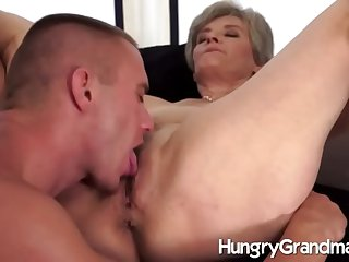 Hungry old pussy and a hot blank out