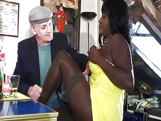 Young and superannuated ebony anal double regions