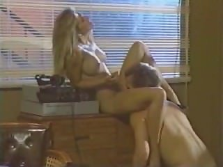 Old school blonde babe fucks supplicant
