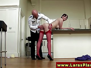 Euro grown-up slut gets a rough make the beast with two backs