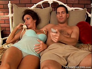 Pregnant adult pornstar Nancy Vee is a hot fuck