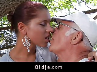 Beamy detect oldman fucks his much younger sexy steady old-fashioned