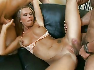 two cocks be worthwhile for emaciate blonde