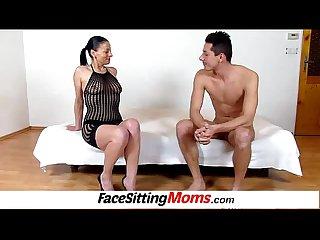 Hot legs amateur milf Renate high heels increased by pussy eating