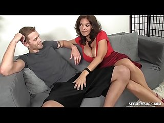 Hot Milf Sucks A Young Dude's Boner