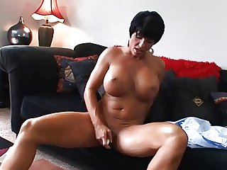 Hot Grown up Busty Brunette Cougar Bangs added to Wears It