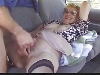 Outdoor grown-up lady loves Dogging