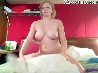 Grown-up pretty good chick with big bosom beyond webcam