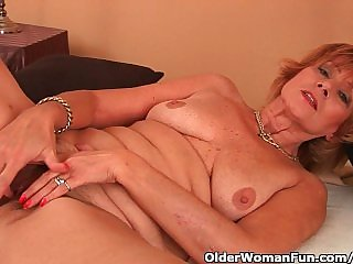 Chesty Grandma Gets Fucked In Her Unshaven Pussy