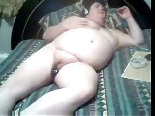 Spying my fat mom masturbating upstairs bed. Hidden cam