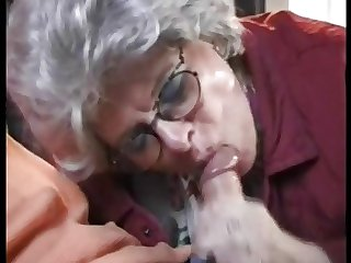 German Mature Granny Fucking is Grandson at All