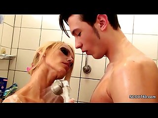 German MILF Coax helter-skelter Fuck by Step-Son Big Learn of in Shower