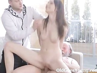 Alina gets her first taste be useful to a mature dude that loves to fuck young pussy