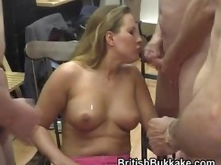 Petite tow-headed cougar cums fixed