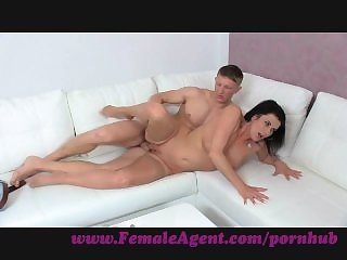 FemaleAgent. Twin cumshot surprise for MILF