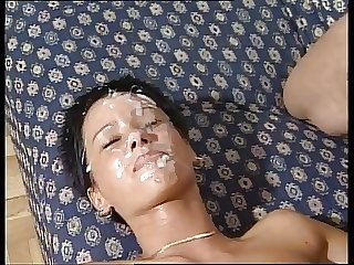 Grown-up milf gangbang and facials