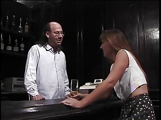 Mature brown sucks hairy bartenders hard pole then gets fucked