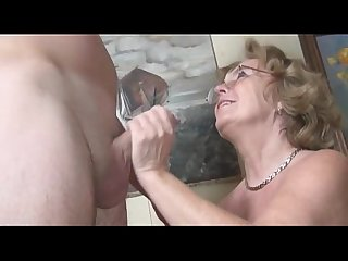 Pierced german granny possessions fucked by a young guy