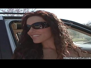 Soccer milf Victoria Valentino gets picked up foreign the parking lot  HD