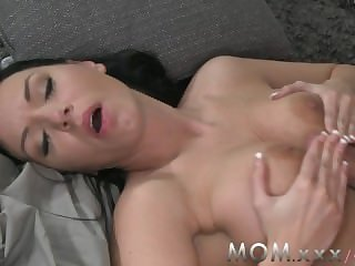 Mummy Brunette with BIg Jugs win a Creampie