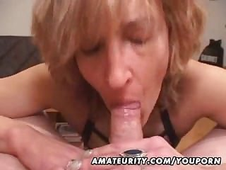 Mature amateur fit together gives tripper with cum relating to mouth
