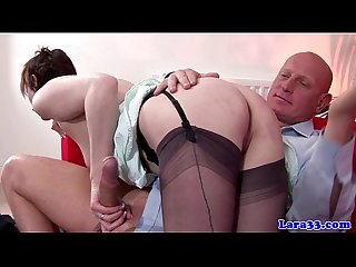 Stocking debilitating euro mature spanked