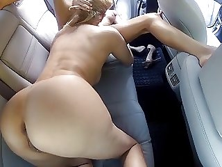 Mature and Teen Of either sex gay Lovemaking Passenger car Backseat