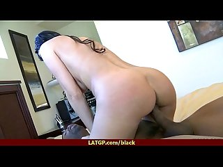White milf riding a sooty cock 24