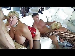 Hot Full-grown Busty Cougars Gangbanged