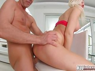 Ani Black Fox has hot lesbian sex in all directions older woman