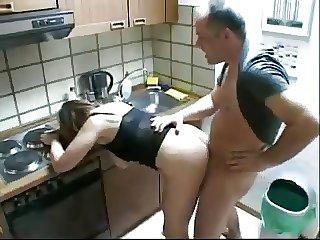 Unpremeditated plumber fuck matriarch & daughter