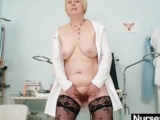Big tits mammy near uniform fingers hairy pussy